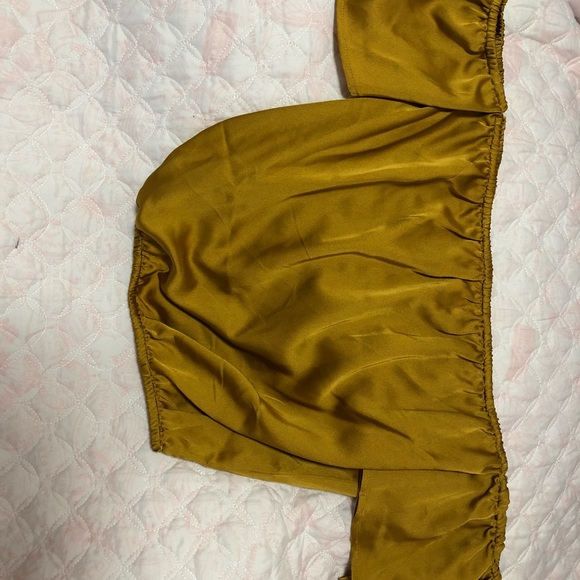 Agac Tops - Yellow Mustard Off the Shoulder Top